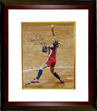 Jennie Finch signed Olympic Team USA 16X20 Photo Custom Framed w/ Team USA