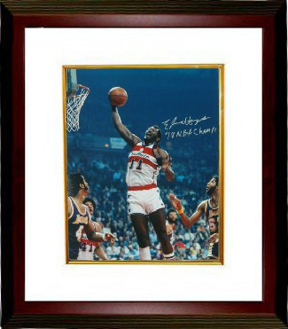 Elvin Hayes signed Washington Bullets 16X20 Photo 78 NBA Champs Custom Framed