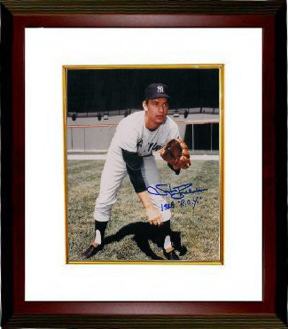 Stan Bahnsen signed New York Yankees 8x10 Photo 1968 ROY Custom Framed
