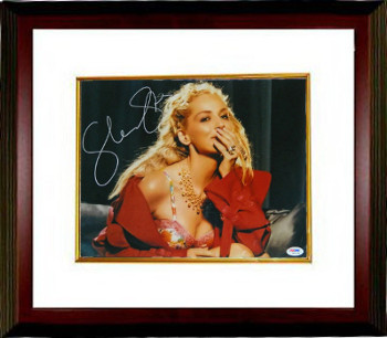 Sharon Stone signed Close Up in Red Coat 11x14 Photo Custom Framed- PSA Hologram (entertainment/movie memorabilia)