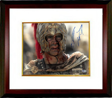 Colin Farrell signed Alexander 11X14 Photo Custom Framed (horizontal-close up bloody face)- Beckett Holo #C83048