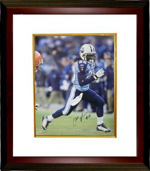 Chris Johnson signed Tennessee Titans 8x10 Photo Custom Framed