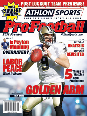 2011 Athlon Sports NFL Pro Football Magazine Preview- New Orleans Saints Cover