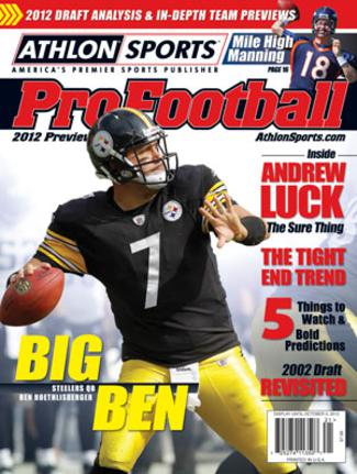 2012 Athlon Sports NFL Pro Football Magazine Preview- Pittsburgh Steelers Cover