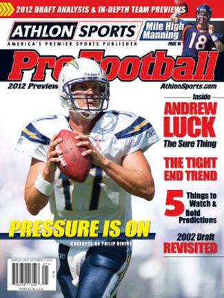 Philip Rivers unsigned San Diego Chargers 2012 Athlon Sports NFL Pro Football Magazine Preview