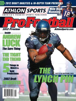 Marshawn Lynch unsigned Seattle Seahawks 2012 Athlon Sports NFL Pro Football Magazine Preview