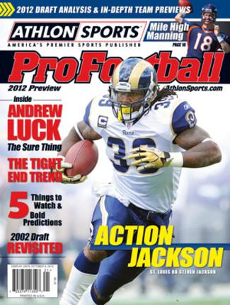 Steven Jackson unsigned St. Louis Rams 2012 Athlon Sports NFL Pro Football Magazine Preview