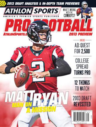 2013 Athlon Sports NFL Pro Football Magazine Preview- Atlanta Falcons Cover