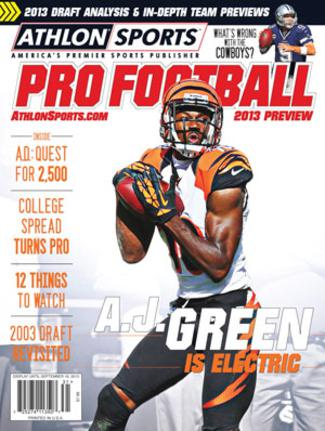 2013 Athlon Sports NFL Pro Football Magazine Preview- Cincinnati Bengals Cover