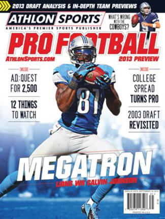 2013 Athlon Sports NFL Pro Football Magazine Preview- Detroit Lions Cover