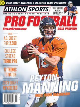 2013 Athlon Sports NFL Pro Football Magazine Preview- Denver Broncos Cover