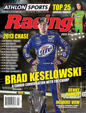 2013 Athlon Sports NASCAR Racing Preview Magazine- Brad Keselowski/Danica Patrick Cover