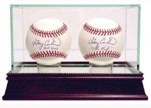 Baseball 2-Ball Glass Deluxe Display Case