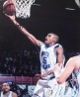 Vince Carter signed North Carolina Tarheels 16x20 Photo scratches- Mounted Hologram (white jersey lay-up)