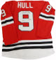 Bobby Hull signed Chicago Blackhawks Red Prostyle Jersey HOF 1983- PSA Hologram