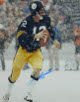 Terry Bradshaw signed Pittsburgh Steelers 16x20 Photo in the Snow