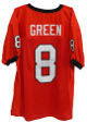 A.J. (AJ) Green signed Red Custom Stitched Football Jersey #8 XL- JSA Hologram