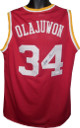 Hakeem Olajuwon signed Red TB Custom Stitched Basketball Jersey XL- JSA Hologram