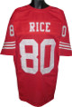 Jerry Rice unsigned Red TB Custom Stitched Pro Style Football Jersey XL