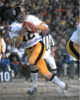 Terry Bradshaw signed Pittsburgh Steelers 16x20 Photo (white jersey vertical dropback)- Beckett Hologram