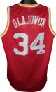 Hakeem Olajuwon signed Red TB Custom Stitched Basketball Jersey XL
