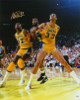 Magic Johnson signed Los Angeles Lakers 16x20 Photo (vs Kareem Abdul-Jabbar)- PSA Hologram