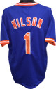 Mookie Wilson signed Blue TB Custom Stitched Baseball Jersey #1 XL- JSA Hologram