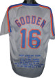 Doc Gooden signed New York Mets Gray Prostyle TB Jersey w/ Embroidered Stats
