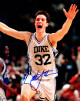 Christian Laettner signed Duke Blue Devils Arms Up Celebration 8x10 Photo 1992 Game Winner vs Kentucky minor spot