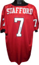 Matthew Stafford signed Red Custom Stitched Football Jersey XXL