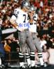 Bob Lilly signed Dallas Cowboys 8X10 Photo (white jersey)