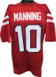Eli Manning Ole Miss Rebels unsigned Red Prostyle Jersey XL w/ Blue Trim