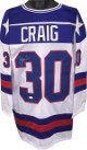Jim Craig signed Team USA White Prostyle TB Jersey XL (Miracle on Ice-1980 Olympics vs Soviet Union)- JSA Witnessed Hologram