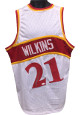 Dominique Wilkins signed White TB Custom Stitched Basketball Jersey XL minor bleed- JSA Hologram