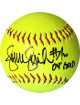 Jennie Finch signed Official 12 inch Yellow Softball 04 Gold (Team USA Olympics)