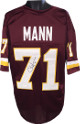 Charles Mann signed Maroon TB Custom Stitched Pro Style Football Jersey #71 XL- JSA Hologram