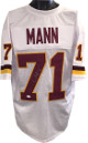 Charles Mann signed White TB Custom Stitched Pro Style Football Jersey XL #71- JSA Hologram