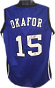 Jahlil Okafor signed Blue Custom Stitched Basketball Jersey XL