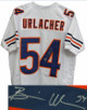 Brian Urlacher signed Chicago Bears White Pro style Jersey