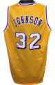 Magic Johnson signed Gold TB Custom Stitched Basketball Jersey (White #) XL