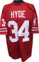 Carlos Hyde signed Red Custom Stitched Football Jersey #34 XL- JSA Hologram