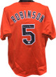 Brooks Robinson signed Orange TB Custom Stitched Baseball Jersey HOF 83 XL- JSA Hologram