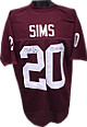 Billy Sims signed Maroon TB Custom Stitched Football Jersey #20 78 Heisman XL- JSA Hologram