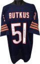 Dick Butkus signed Navy TB Custom Stitched Pro Style Football Jersey XL- Mounted Hologram