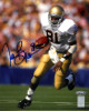 Tim Brown signed Notre Dame Fighting Irish 8X10 Photo (blue sig)- Tri-Star/Brown Holograms