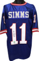 Phil Simms signed New York Giants Blue Prostyle TB Jersey #11- PSA Hologram