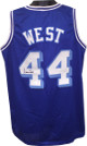 Jerry West signed Blue TB Custom Stitched Basketball Jersey XL- JSA Witnessed Hologram