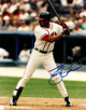 David Justice signed Atlanta Braves 8x10 Photo (batting)
