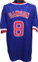 Andre Dawson signed Blue TB Custom Stitched Baseball Jersey XL- JSA Hologram