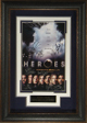 Ali Larter signed Heroes 22X30 Masterprint Poster Leather Framed 7 cast sigs (tv/entertainment/photo)